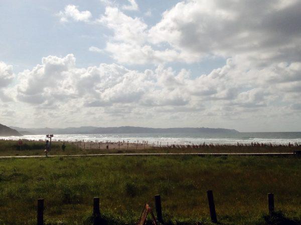 Fotografía de Playa de Vega con marco blanco. 18x13cm