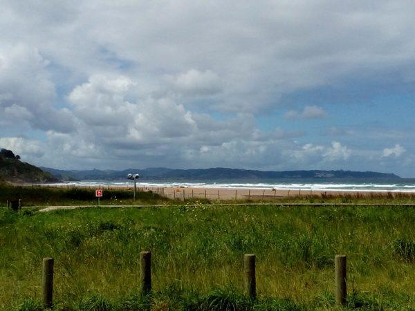 Fotografía de la playa de Vega en miniatura de 13x18cm enmarcada