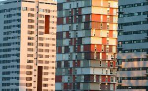 Fotografía de edificios en la M30
