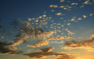 Fotografía de nubes en dispersión