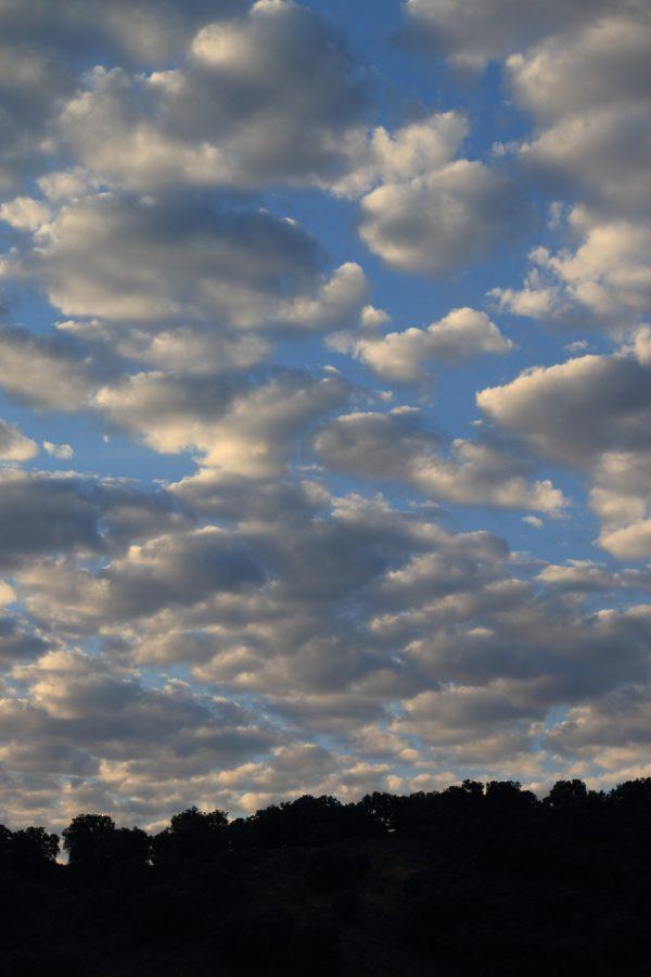 Fotografía de nubes de paso