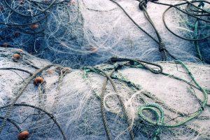Fotografía de hilos y redes de pesca